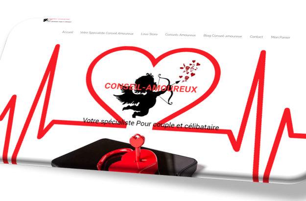 Conception site e-commerce Conseil-amoureux