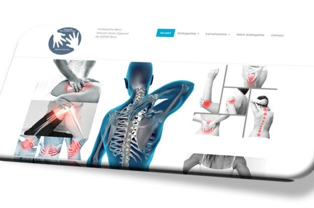 Conception site Ostéopathe Marc Vivies